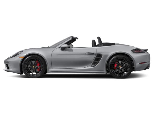 Rhodium Silver Metallic 2018 Porsche 718 Boxster Pictures 718 Boxster S Roadster photos side view