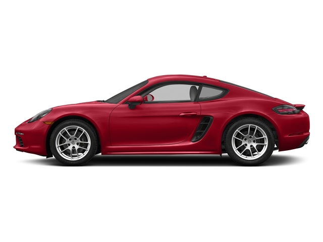 Carmine Red 2018 Porsche 718 Cayman Pictures 718 Cayman Coupe photos side view