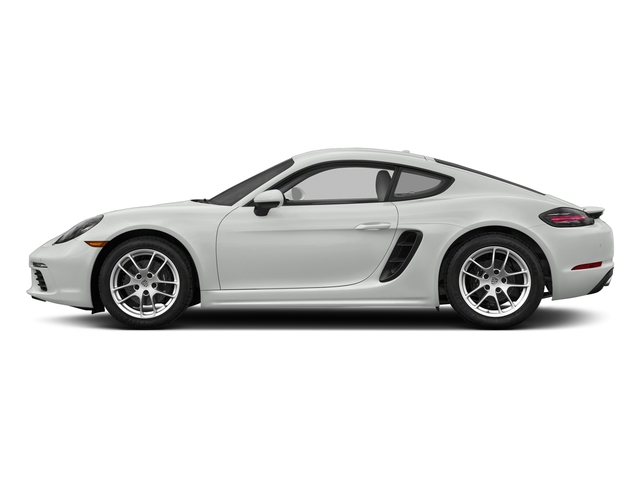 White 2018 Porsche 718 Cayman Pictures 718 Cayman Coupe photos side view