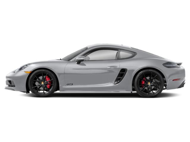 Rhodium Silver Metallic 2018 Porsche 718 Cayman Pictures 718 Cayman GTS Coupe photos side view