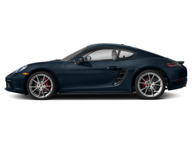 Night Blue Metallic 2018 Porsche 718 Cayman Pictures 718 Cayman S Coupe photos side view