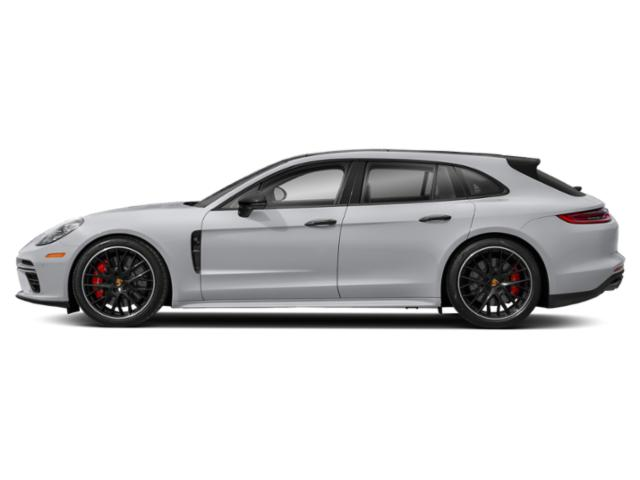 Rhodium Silver Metallic 2018 Porsche Panamera Pictures Panamera 4 Sport Turismo AWD photos side view