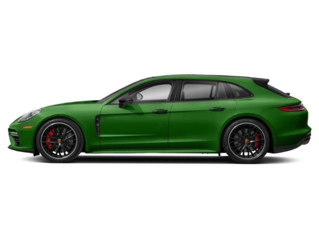 Mamba Green Metallic 2018 Porsche Panamera Pictures Panamera 4 Sport Turismo AWD photos side view