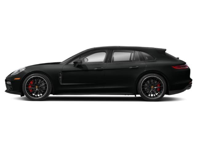 Jet Black Metallic 2018 Porsche Panamera Pictures Panamera Turbo Sport Turismo AWD photos side view