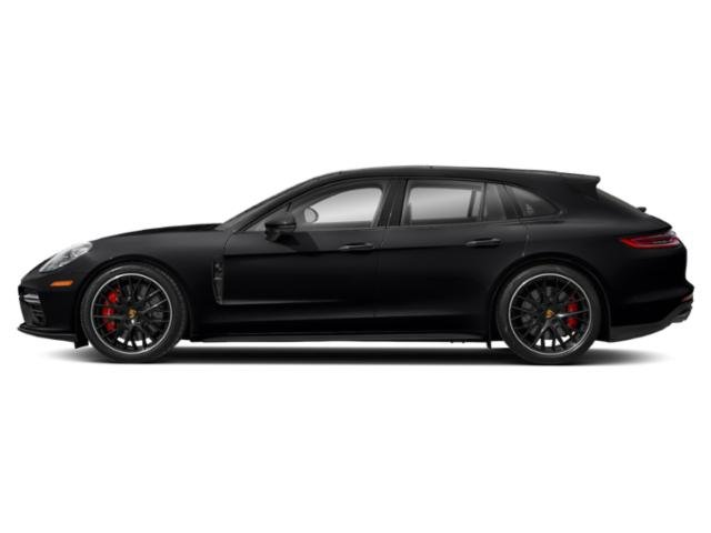 Black 2018 Porsche Panamera Pictures Panamera Turbo Sport Turismo AWD photos side view