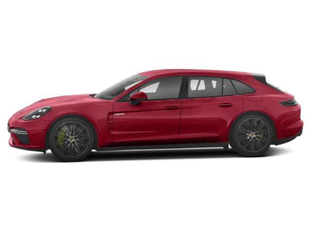 Carmine Red 2018 Porsche Panamera Pictures Panamera Turbo S E-Hybrid Sport Turismo AWD photos side view