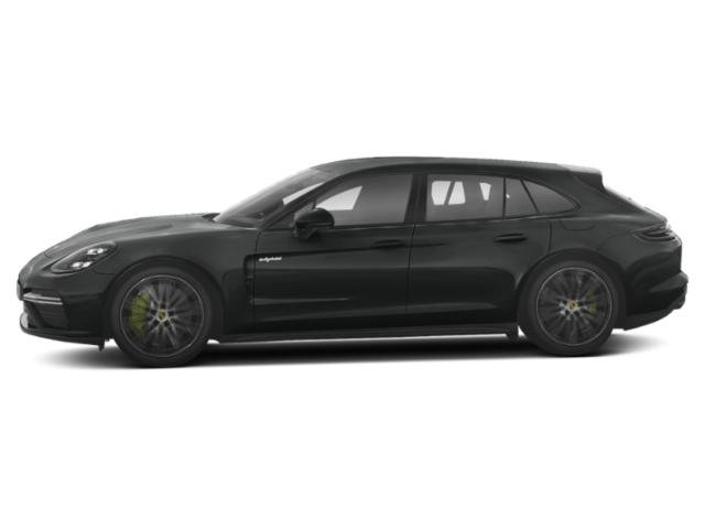 Jet Black Metallic 2018 Porsche Panamera Pictures Panamera Turbo S E-Hybrid Sport Turismo AWD photos side view