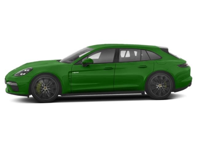 Mamba Green Metallic 2018 Porsche Panamera Pictures Panamera Turbo S E-Hybrid Sport Turismo AWD photos side view