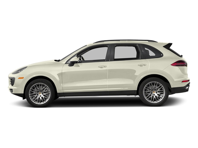 Carrara White Metallic 2018 Porsche Cayenne Pictures Cayenne Utility 4D Platinum AWD V6 photos side view