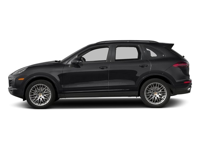 Black 2018 Porsche Cayenne Pictures Cayenne Utility 4D Platinum AWD V6 photos side view