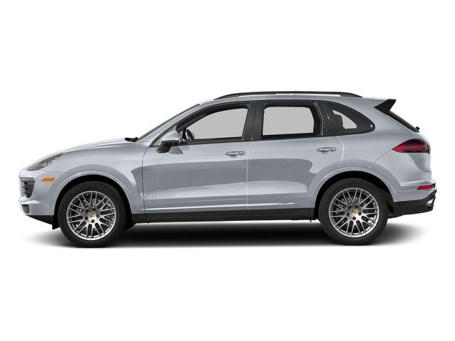 Rhodium Silver Metallic 2018 Porsche Cayenne Pictures Cayenne Utility 4D Platinum AWD V6 photos side view