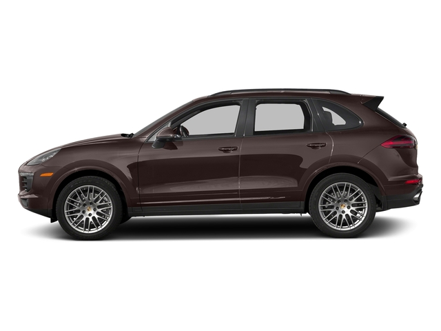 Mahogany Metallic 2018 Porsche Cayenne Pictures Cayenne Utility 4D Platinum AWD V6 photos side view