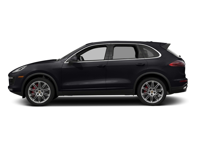 Jet Black Metallic 2018 Porsche Cayenne Pictures Cayenne Turbo S AWD photos side view