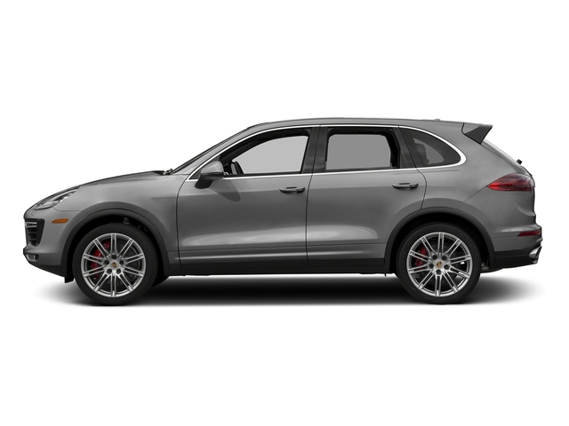Rhodium Silver Metallic 2018 Porsche Cayenne Pictures Cayenne Utility 4D AWD V8 Turbo photos side view