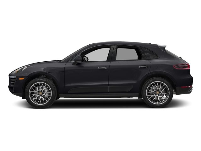 Jet Black Metallic 2018 Porsche Macan Pictures Macan GTS AWD photos side view