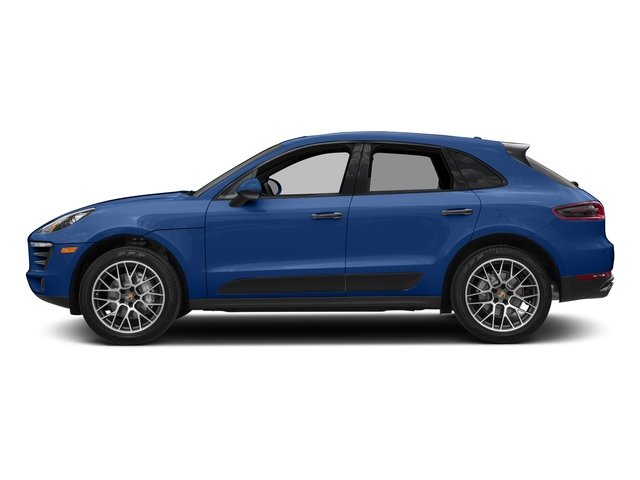 Sapphire Blue Metallic 2018 Porsche Macan Pictures Macan Turbo AWD w/Performance Pkg photos side view