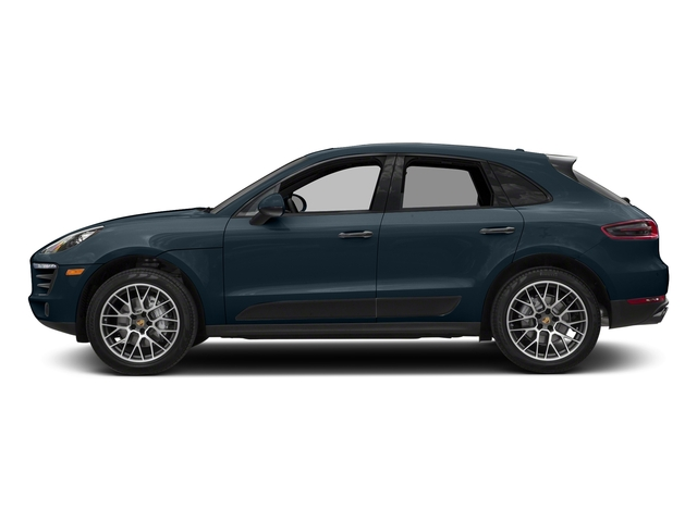 Night Blue Metallic 2018 Porsche Macan Pictures Macan Turbo AWD w/Performance Pkg photos side view