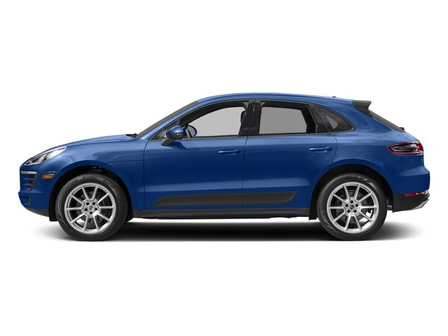 Sapphire Blue Metallic 2018 Porsche Macan Pictures Macan AWD photos side view