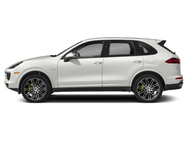 White 2018 Porsche Cayenne Pictures Cayenne S E-Hybrid AWD photos side view