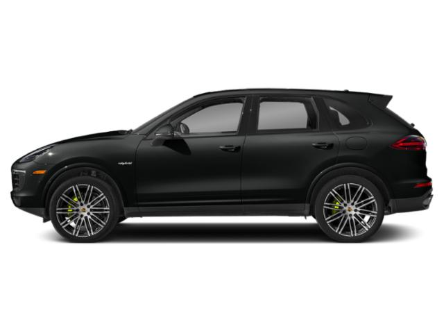 Jet Black Metallic 2018 Porsche Cayenne Pictures Cayenne S Platinum Edition E-Hybrid AWD photos side view