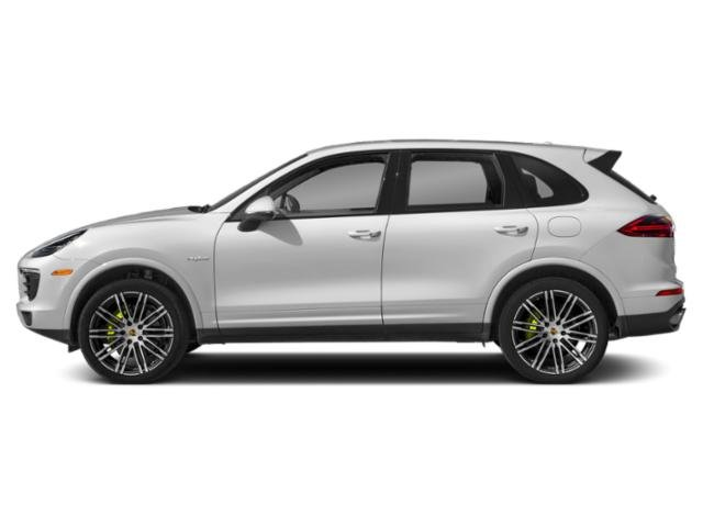 Carrara White Metallic 2018 Porsche Cayenne Pictures Cayenne S Platinum Edition E-Hybrid AWD photos side view