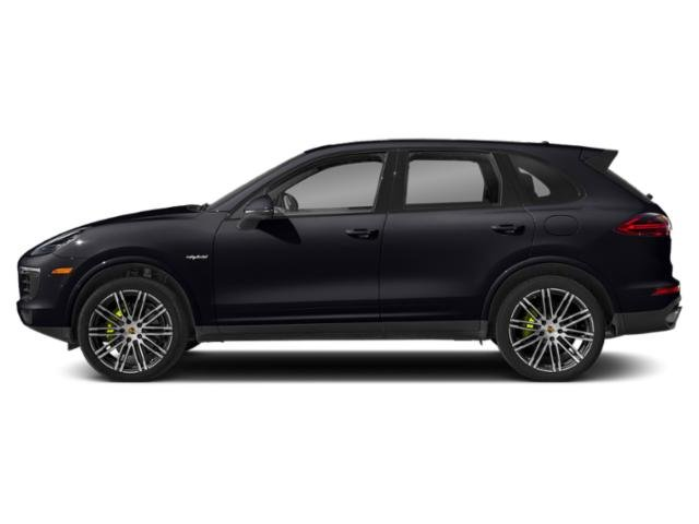 Purpurite Metallic 2018 Porsche Cayenne Pictures Cayenne S Platinum Edition E-Hybrid AWD photos side view