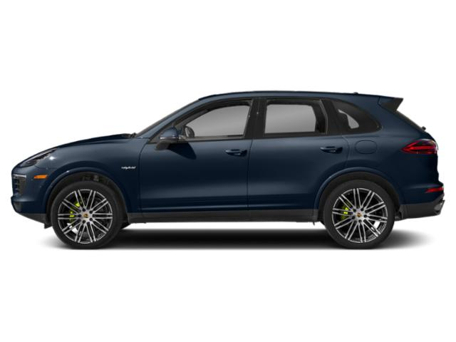 Moonlight Blue Metallic 2018 Porsche Cayenne Pictures Cayenne S E-Hybrid AWD photos side view