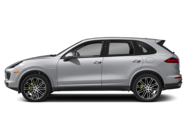 Rhodium Silver Metallic 2018 Porsche Cayenne Pictures Cayenne S E-Hybrid AWD photos side view