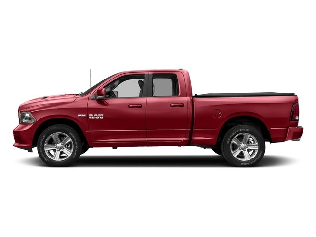 Flame Red Clearcoat 2018 Ram Truck 1500 Pictures 1500 Sport 4x4 Quad Cab 6'4 Box *Ltd Avail* photos side view