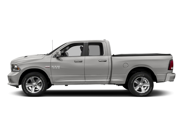 Bright Silver Metallic Clearcoat 2018 Ram Truck 1500 Pictures 1500 Sport 4x4 Quad Cab 6'4 Box *Ltd Avail* photos side view