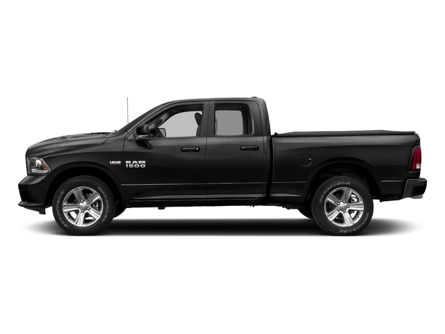 Brilliant Black Crystal Pearlcoat 2018 Ram Truck 1500 Pictures 1500 Night 4x2 Quad Cab 6'4 Box *Ltd Avail* photos side view