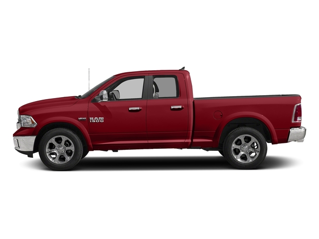 Flame Red Clearcoat 2018 Ram Truck 1500 Pictures 1500 Laramie 4x4 Quad Cab 6'4 Box photos side view