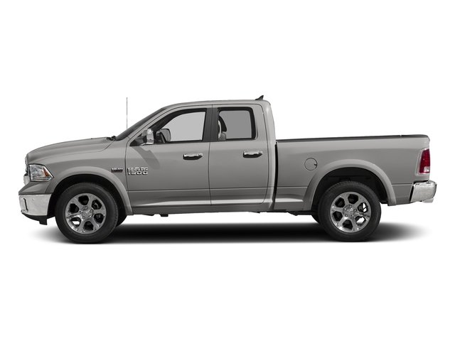 Bright Silver Metallic Clearcoat 2018 Ram Truck 1500 Pictures 1500 Laramie 4x4 Quad Cab 6'4 Box photos side view