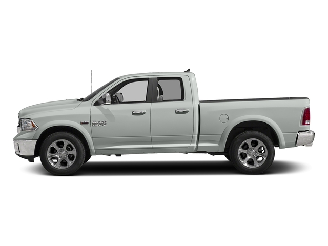 Bright White Clearcoat 2018 Ram Truck 1500 Pictures 1500 Laramie 4x4 Quad Cab 6'4 Box photos side view