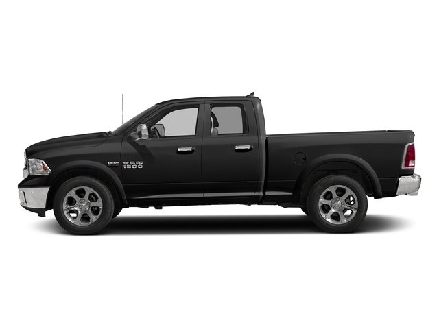 Brilliant Black Crystal Pearlcoat 2018 Ram Truck 1500 Pictures 1500 Laramie 4x4 Quad Cab 6'4 Box photos side view