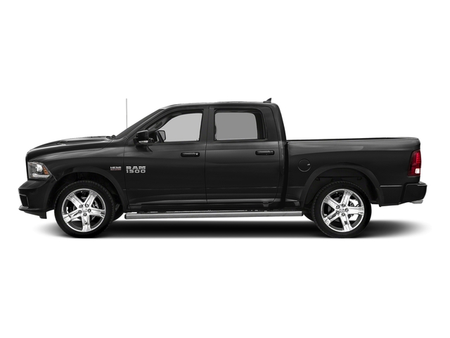 Brilliant Black Crystal Pearlcoat 2018 Ram Truck 1500 Pictures 1500 Night 4x4 Crew Cab 6'4 Box *Ltd Avail* photos side view