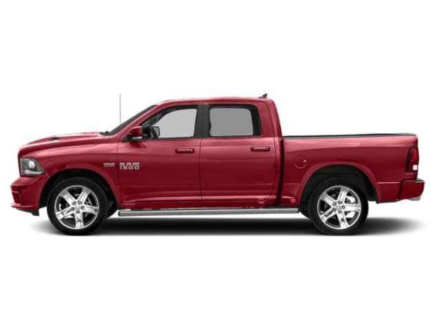 Flame Red Clearcoat 2018 Ram Truck 1500 Pictures 1500 Night 4x2 Crew Cab 6'4 Box *Ltd Avail* photos side view