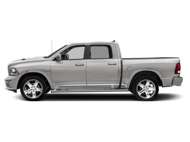 Bright Silver Metallic Clearcoat 2018 Ram Truck 1500 Pictures 1500 Night 4x2 Crew Cab 6'4 Box *Ltd Avail* photos side view