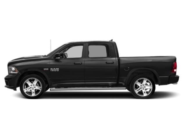Brilliant Black Crystal Pearlcoat 2018 Ram Truck 1500 Pictures 1500 Night 4x2 Crew Cab 6'4 Box *Ltd Avail* photos side view