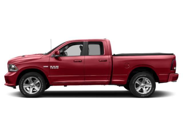 Flame Red Clearcoat 2018 Ram Truck 1500 Pictures 1500 Quad Cab Sport 4WD photos side view