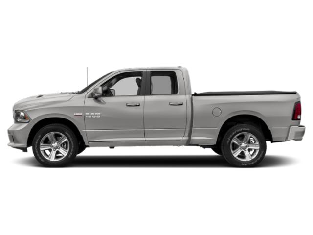 Bright Silver Metallic Clearcoat 2018 Ram Truck 1500 Pictures 1500 Quad Cab Sport 4WD photos side view