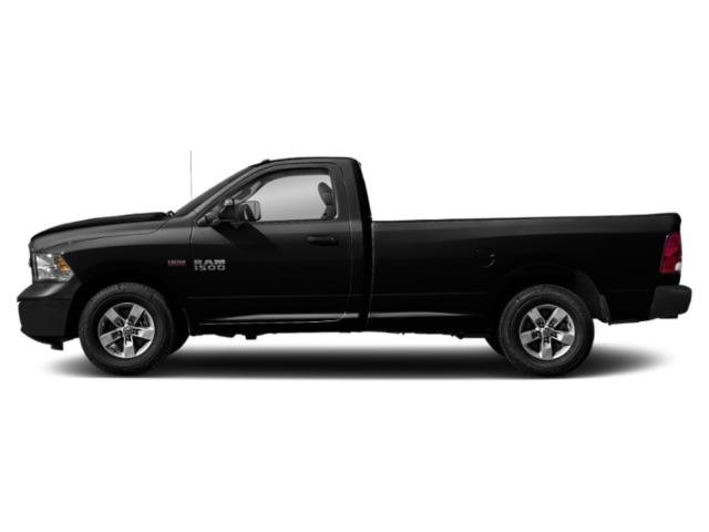 Brilliant Black Crystal Pearlcoat 2018 Ram Truck 1500 Pictures 1500 Express 4x2 Reg Cab 6'4 Box photos side view