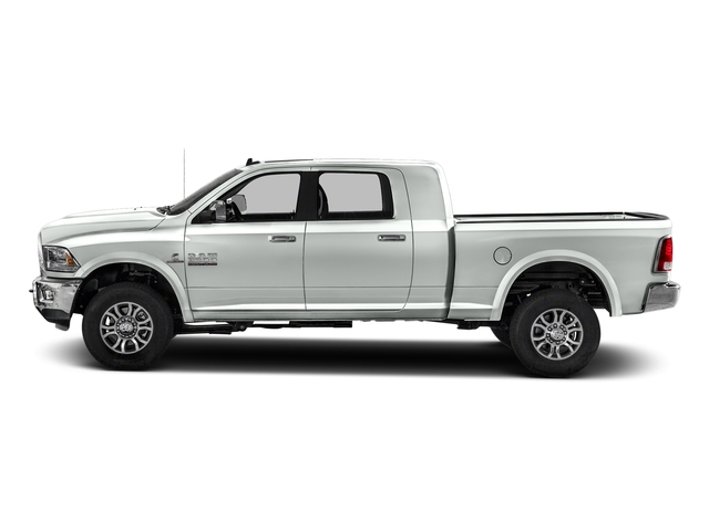 Bright White Clearcoat 2018 Ram Truck 2500 Pictures 2500 Laramie 4x4 Mega Cab 6'4 Box photos side view