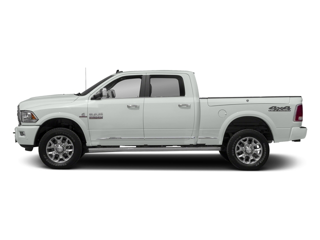Bright White Clearcoat 2018 Ram Truck 2500 Pictures 2500 Laramie Longhorn 4x2 Crew Cab 8' Box photos side view