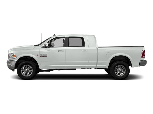 Bright White Clearcoat 2018 Ram Truck 3500 Pictures 3500 Limited 4x4 Mega Cab 6'4 Box photos side view