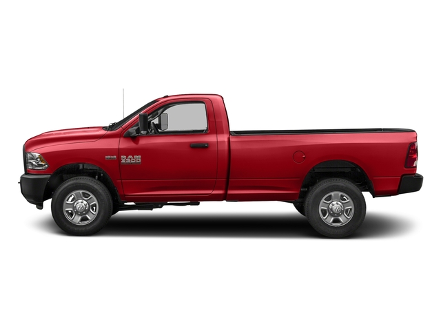 Bright Red 2018 Ram Truck 3500 Pictures 3500 Tradesman 4x2 Reg Cab 8' Box photos side view