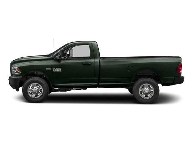 Black Forest Green Pearlcoat 2018 Ram Truck 3500 Pictures 3500 Regular Cab SLT 2WD photos side view