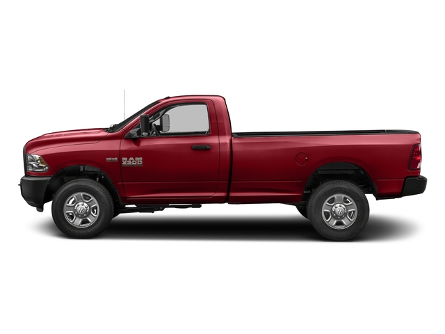Flame Red Clearcoat 2018 Ram Truck 3500 Pictures 3500 Tradesman 4x2 Reg Cab 8' Box photos side view
