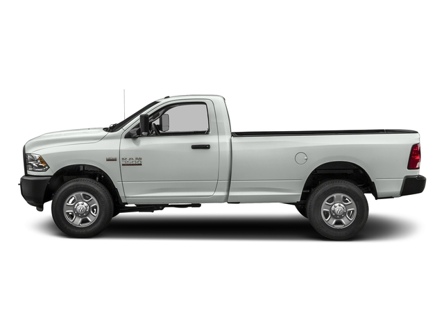 Bright White Clearcoat 2018 Ram Truck 3500 Pictures 3500 Tradesman 4x2 Reg Cab 8' Box photos side view
