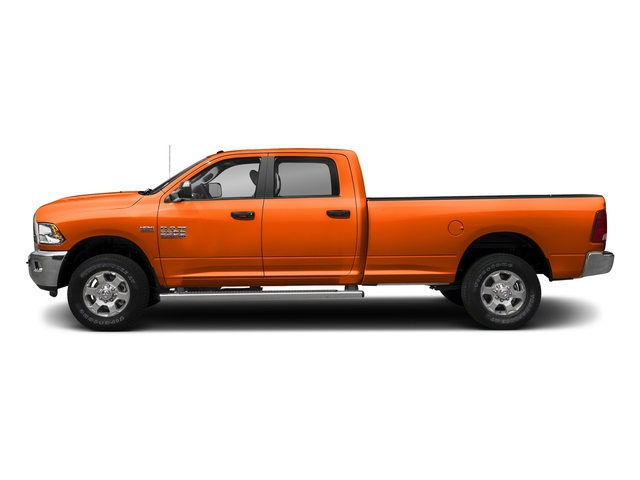 Omaha Orange 2018 Ram Truck 3500 Pictures 3500 Big Horn 4x4 Crew Cab 8' Box photos side view